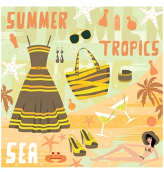 fashion set summer clothes vector image vector image