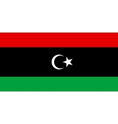 Flag of Libya in correct proportions and colors vector image