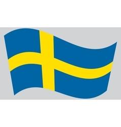 Flag sweden waving vector
