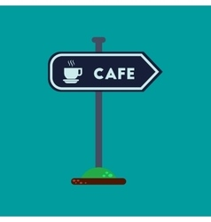 Flat icon on background cafe sign vector