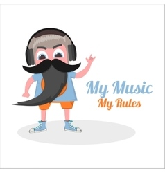 flat my music vector image
