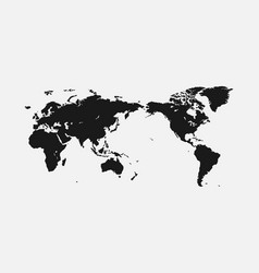 flat world map for interior design advertising vector image