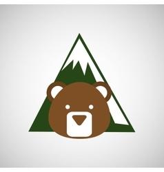 Forest reserve design vector image
