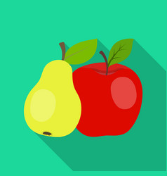 fruit single icon in flat style fruit vector image