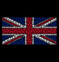 Great britain flag collage of arrow direction vector