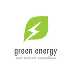 Green eco energy logo vector
