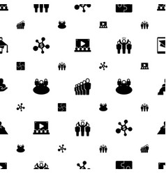 Group icons pattern seamless included editable vector
