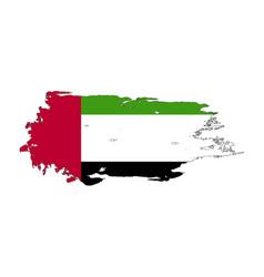 grunge brush stroke with united arab emirates vector image