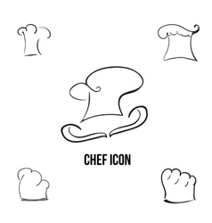 Han-drawn stylish chef icon with additional vector