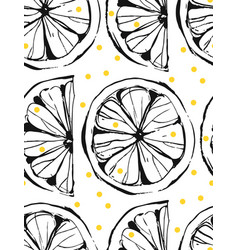Hand drawn abstract unusual summer time vector