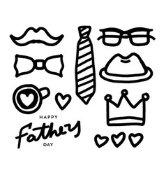 happy fathers day grunge elements fathers day vector image