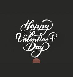 happy valentines day text valentines vector image