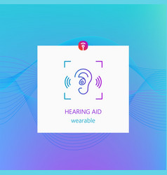 Hearing aid wearable colorful design vector