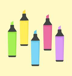 Highlighter marker school office supplies vector