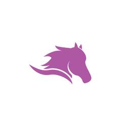 Horse head logo icon template vector