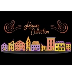 Houses in a Row Color vector image