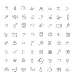 Icon collection - kitchen tools and utensils vector