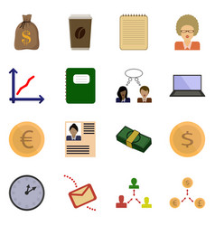 Icon set revenue button vector