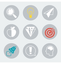 Idea concept icons in flat design style vector image