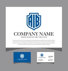 Initial a i b logo design for various business vector