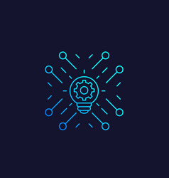Innovations and technology linear icon vector
