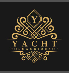 letter y logo - classic luxurious style logo vector image