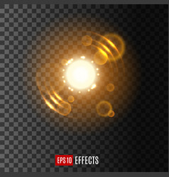 light effect with lens flare and sparkles vector image