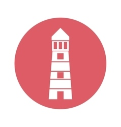 Lighthouse emblem icon image vector