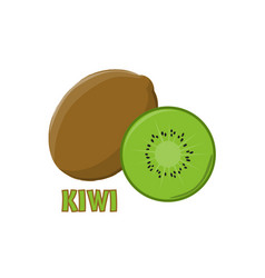Logo kiwi farm design vector