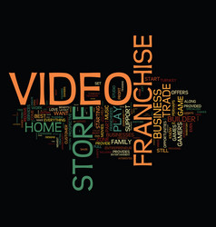 love movies perhaps a video franchise business is vector image