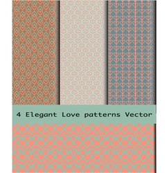 Love Patterns vector