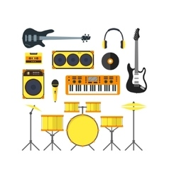 Musical Instruments Set Flat vector image