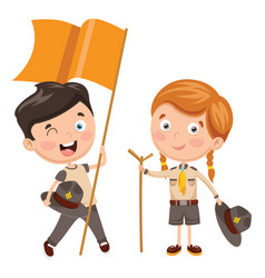 of scout children vector image