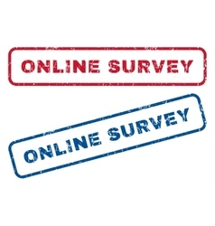 Online Survey Rubber Stamps vector