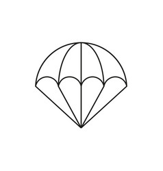 parachute of icon vector image