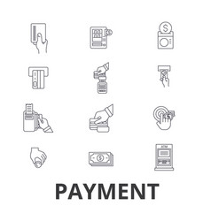payment pay money credit card online bill vector image