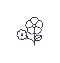 petunia flower line icon concept petunia flower vector image