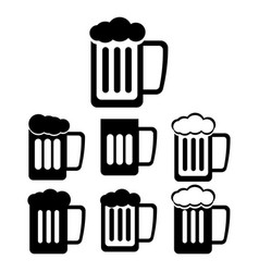 pint and beer icons vector image