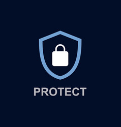 protect logo template design vector image