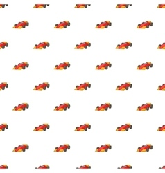 Race car pattern cartoon style vector image