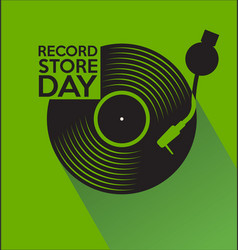 record store day retro vintage template 4 vector image
