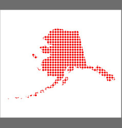 Red dot map of alaska vector