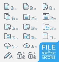 Responsive File and Directory Management Icons vector