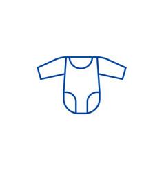 romper suit line icon concept romper suit flat vector image