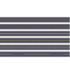 seamless highway straight asphalt road with vector image