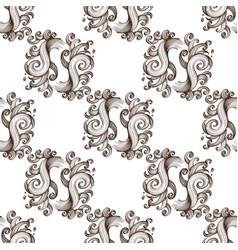 seamless pattern from outline abstract elements vector image
