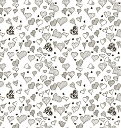 Seamless stylish pattern with hearts vector image