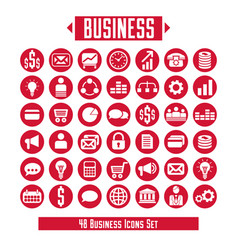 set of business icons and design elements for vector image