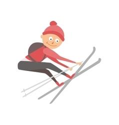 Skiing human trick vector image vector image