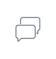 speech bubble chat icon linear style minimalism vector image